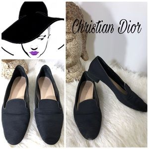 Christian Dior Womens Embroidered Classic Flats